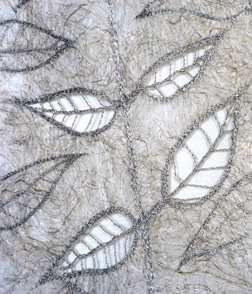 Cutout Leaves - Knitting and Stitching Show